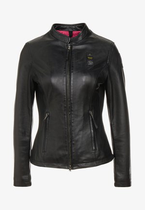 CAPO SPALLA - Leather jacket - black