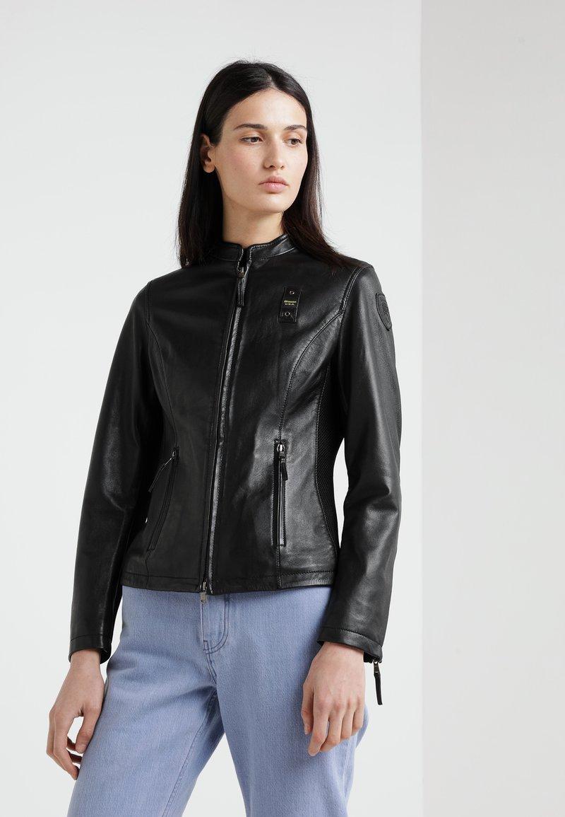 Blauer - CAPO SPALLA - Leather jacket - black