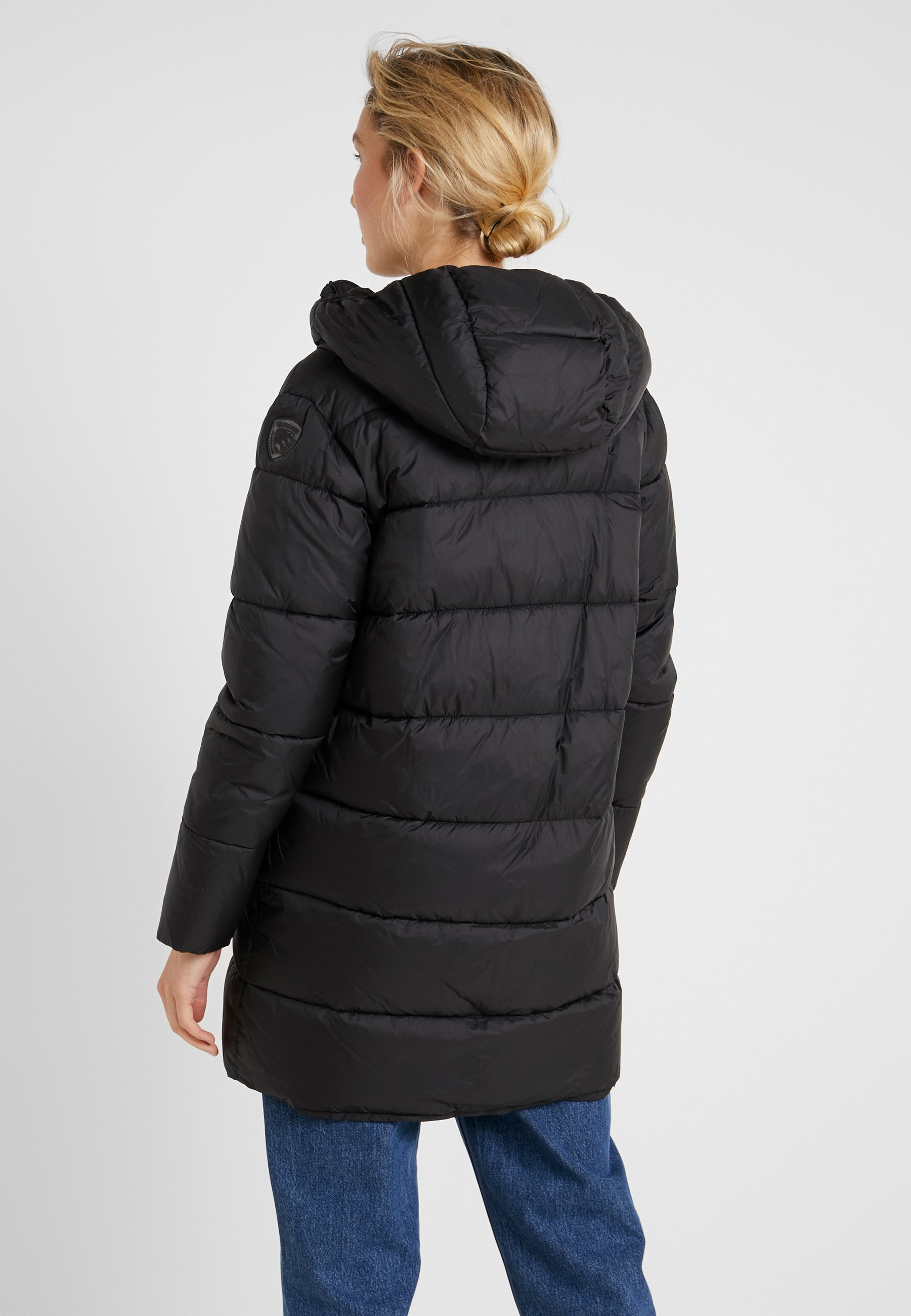 Blauer Lunghi OvattaVeste Impermeabile Imbottito Black D'hiver WHIED29