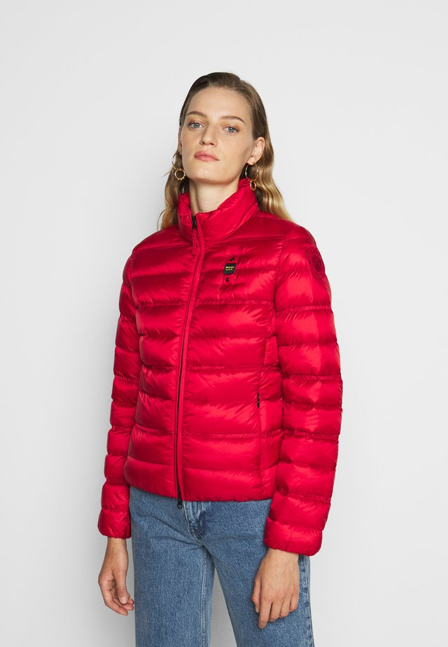 GIUBBINI CORTI IMBOTTITO PIUMA - Gewatteerde jas - bloody red