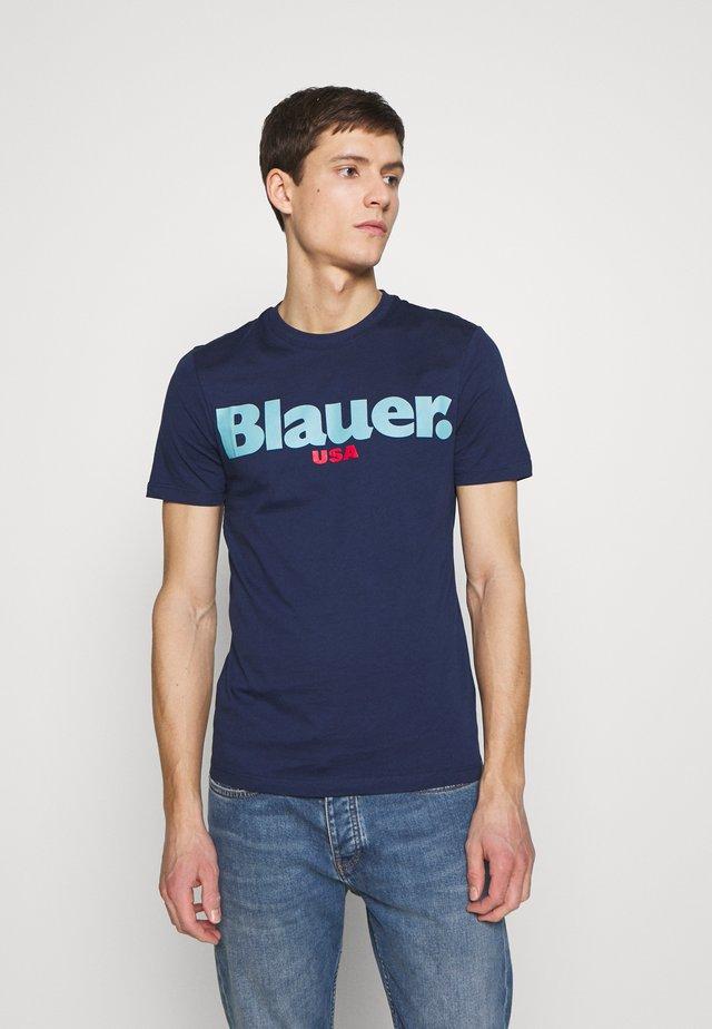 MANICA CORTA - T-shirt print - blu zaffiro