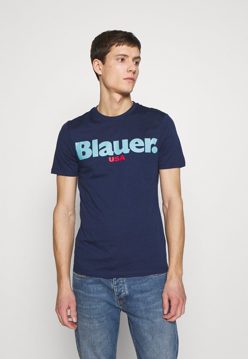 Blauer - MANICA CORTA - T-shirts print - blu zaffiro