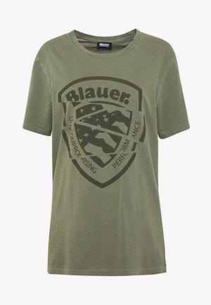 MANICA CORTA - T-shirt imprimé - verde olivastro