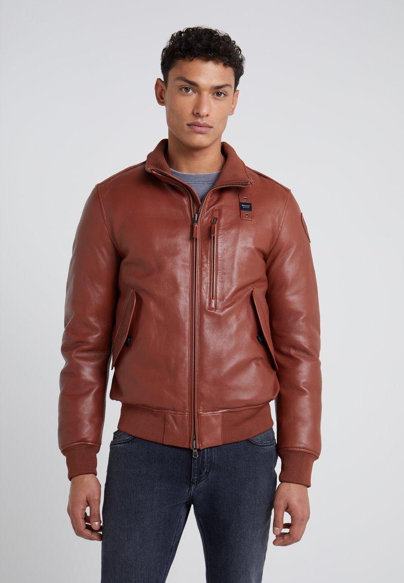 Blauer - Leren jas - dark brown