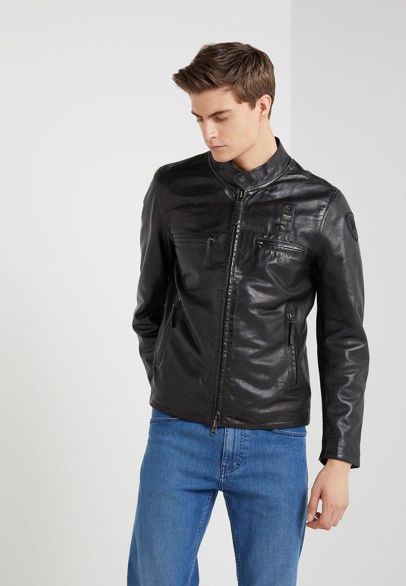 Blauer - Leather jacket - black