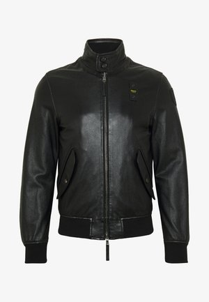 CAPO SPALLA FODERATO - Leather jacket - nero