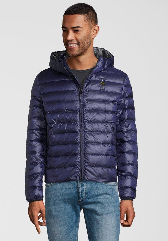 DAUNENJACKE MIT KAPUZE - Down jacket - blau