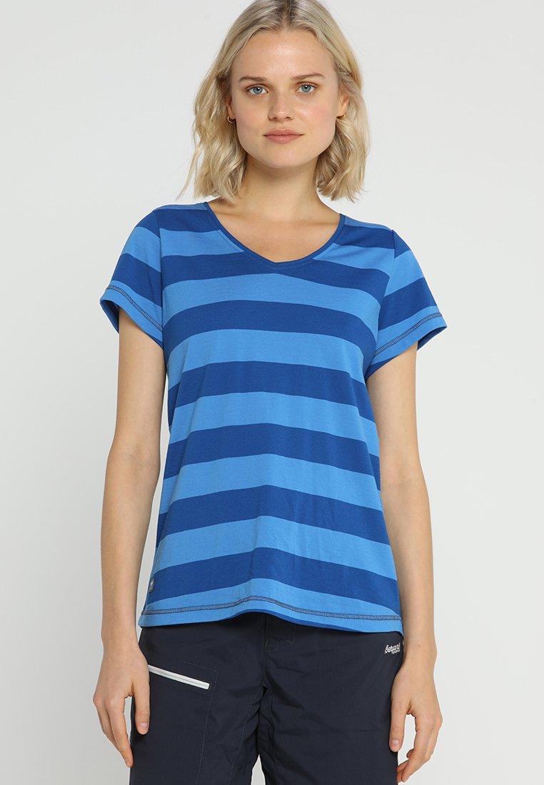 Bergans - BASTY LADY TEE - T-Shirt print - classicblue/cloudblue