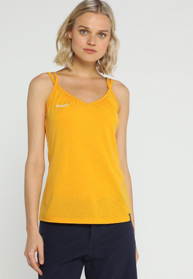 CECILIE SINGLET - Top - sunflower melange/white