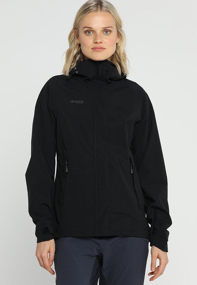 RAMBERG  - Hardshell jacket - black/solid charcoal