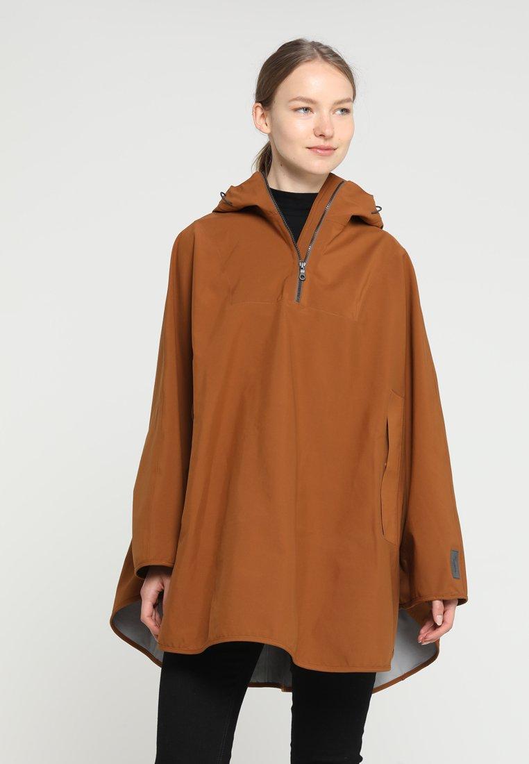 Bergans - OSLO PONCHO - Hardshellová bunda - dark copper