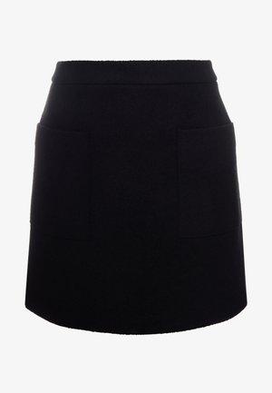 BINOLY - Áčková sukně - black
