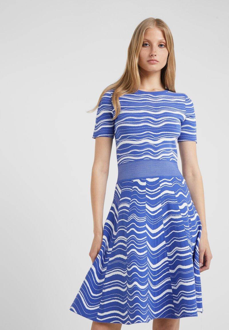 BOSS - IVELNA - Strikket kjole - medium blue