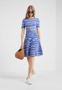 BOSS - IVELNA - Strikket kjole - medium blue - 1