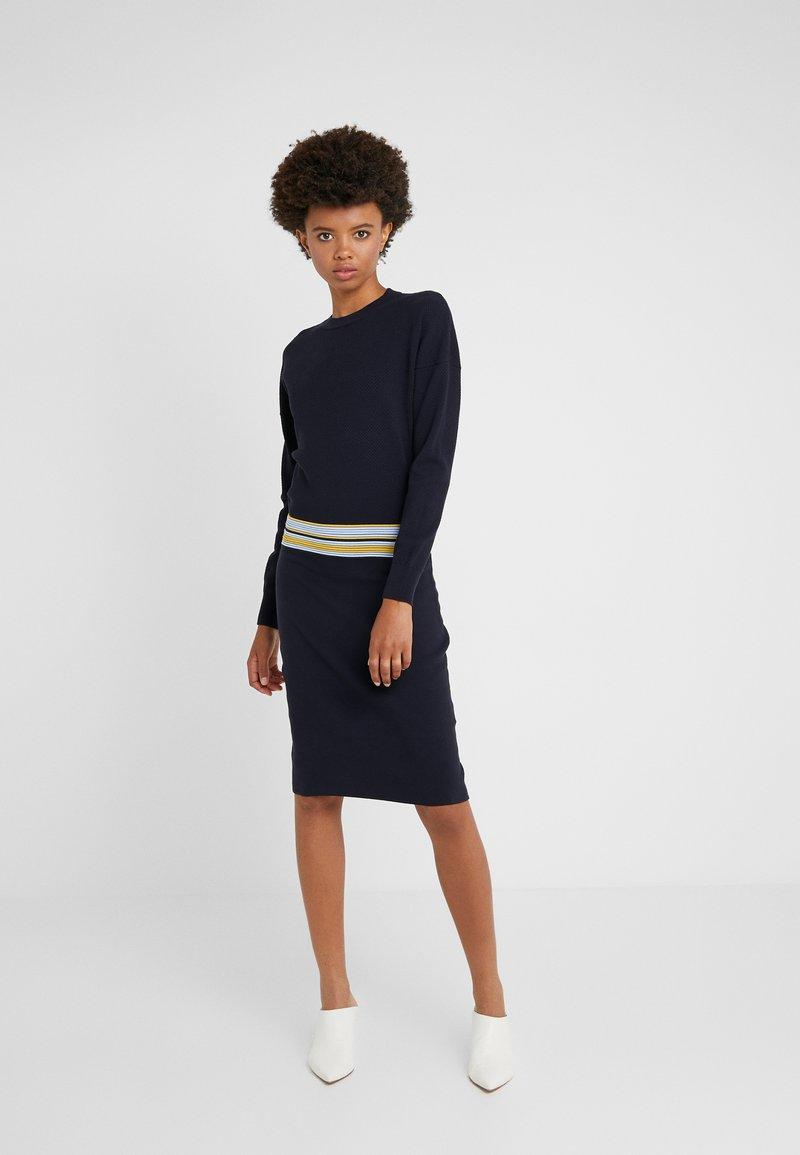 BOSS - IWEARIT - Strickkleid - open blue