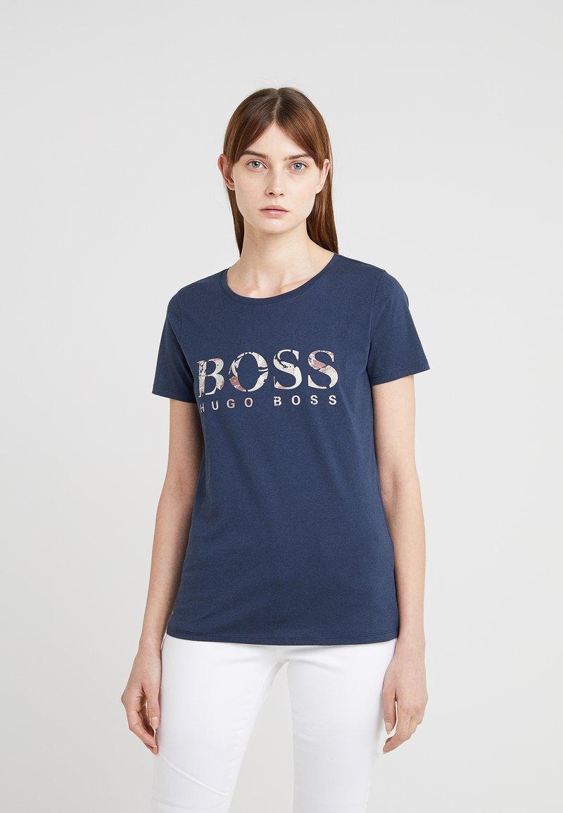 BOSS - TIBOSS - T-Shirt print - dark blue