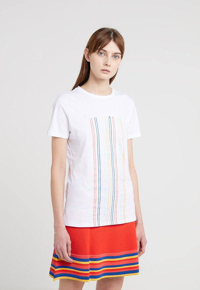 TEBLURRED - T-shirt z nadrukiem - white