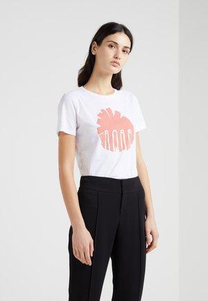 TEBLOSSOM - T-shirt con stampa - white