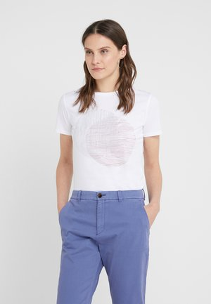 TEMOIRE - T-shirt con stampa - white