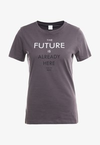 BOSS - TECUT - T-shirt con stampa - charcoal - 4