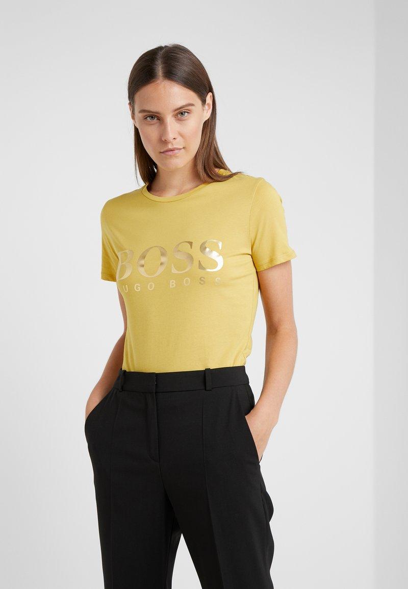 BOSS - TEFOIL - T-Shirt print - mustard