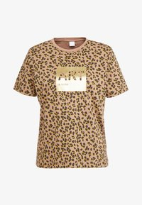 BOSS - TEWINDOW - T-shirt con stampa - camel - 4