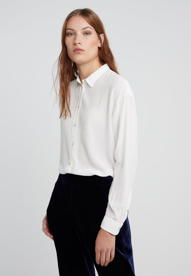 BOSS - ECLUNI - Button-down blouse - open white