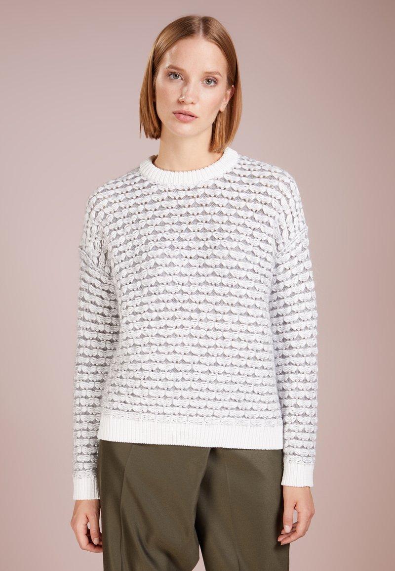BOSS - IKRELLAN - Strickpullover - open white
