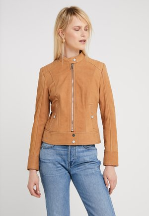 JUTAH - Kožená bunda - light pastel brown