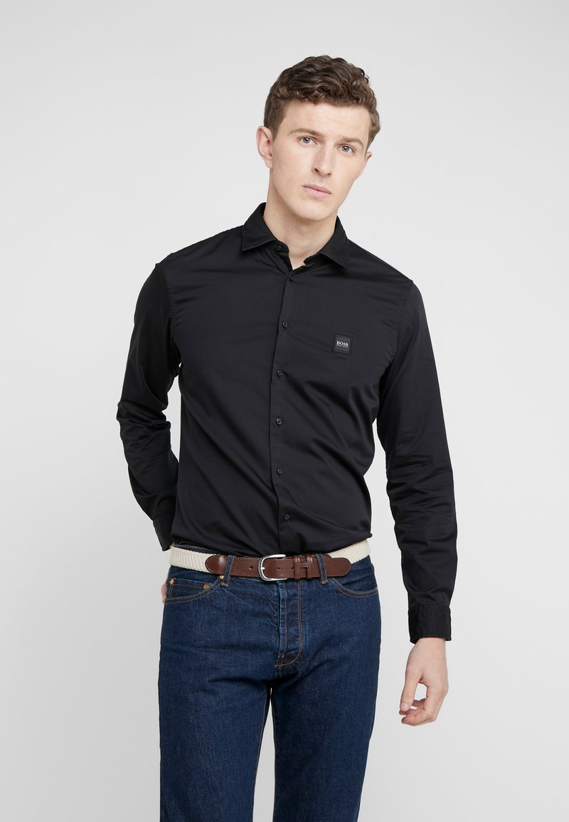 BOSS - MYPOP SLIM FIT - Shirt - black