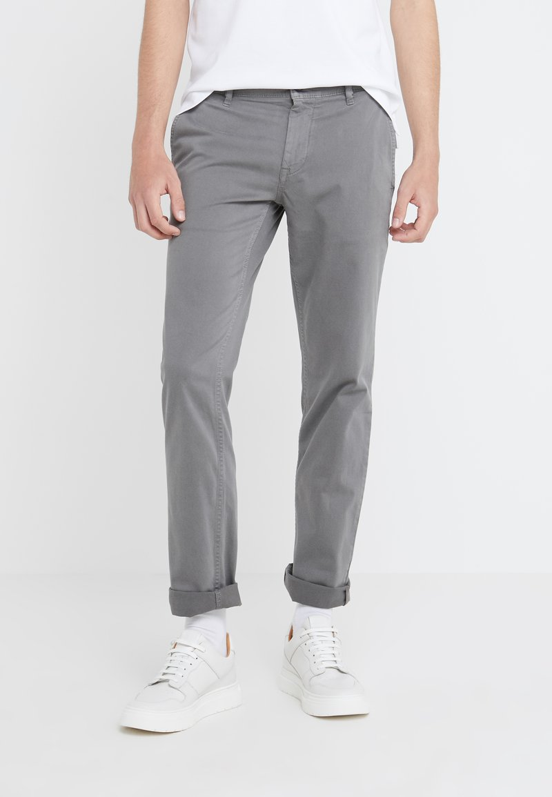 BOSS - REGULAR FIT - Trousers - dark grey