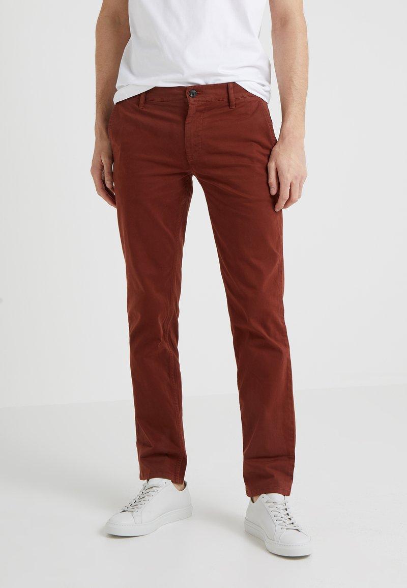 BOSS - REGULAR FIT - Stoffhose - dark red