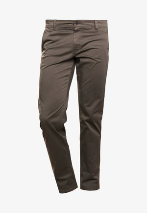 REGULAR FIT - Trousers - dark green