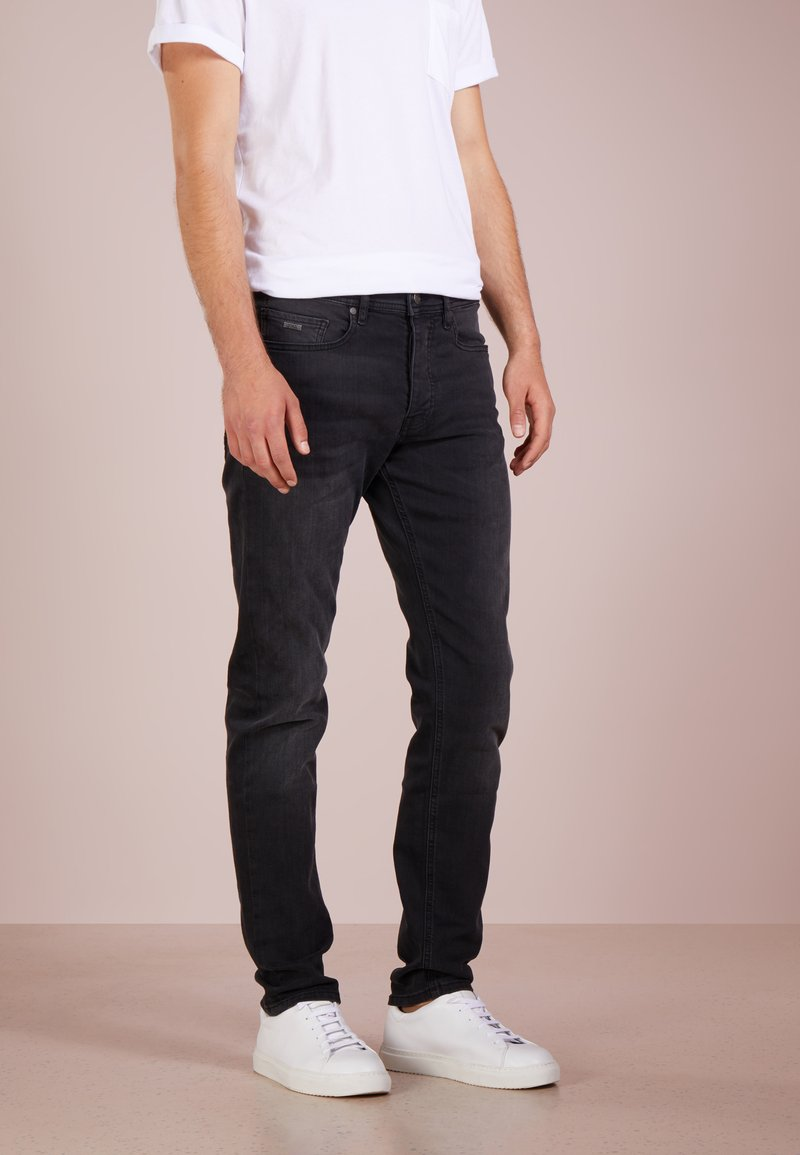 BOSS - TABER - Slim fit jeans - black