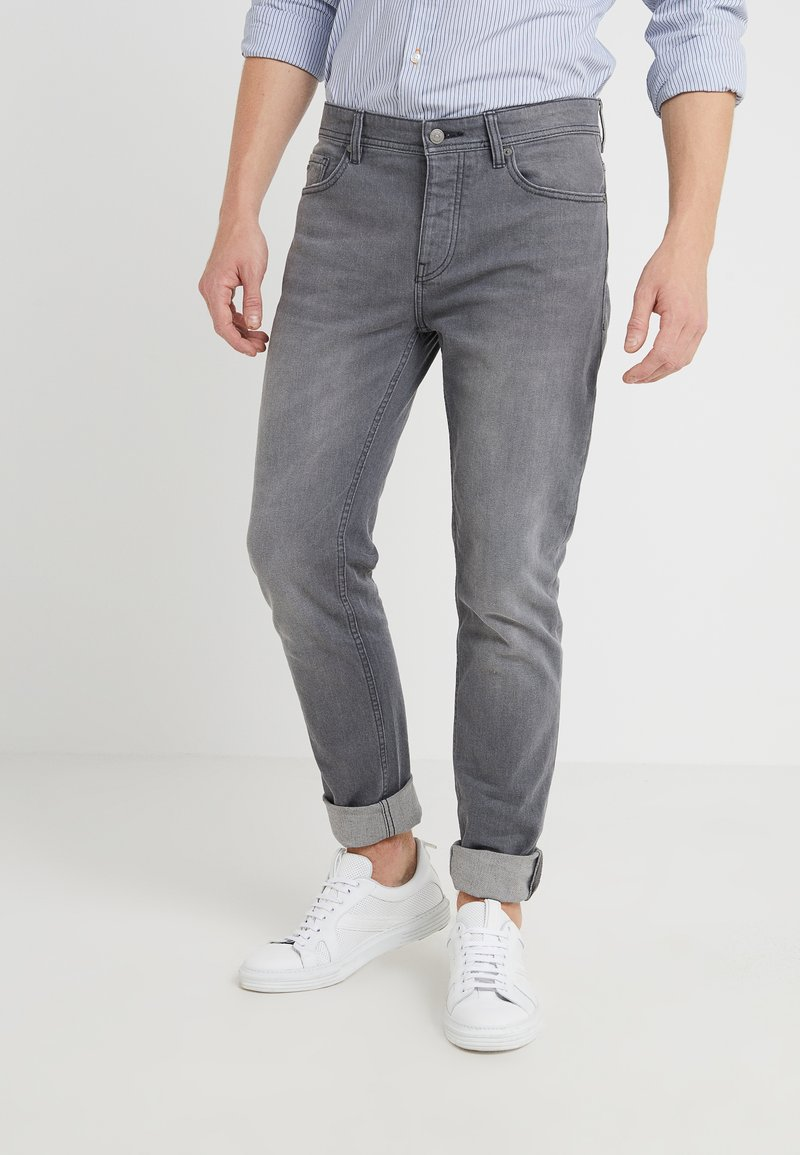 BOSS - TABER - Jeans Tapered Fit - medium grey