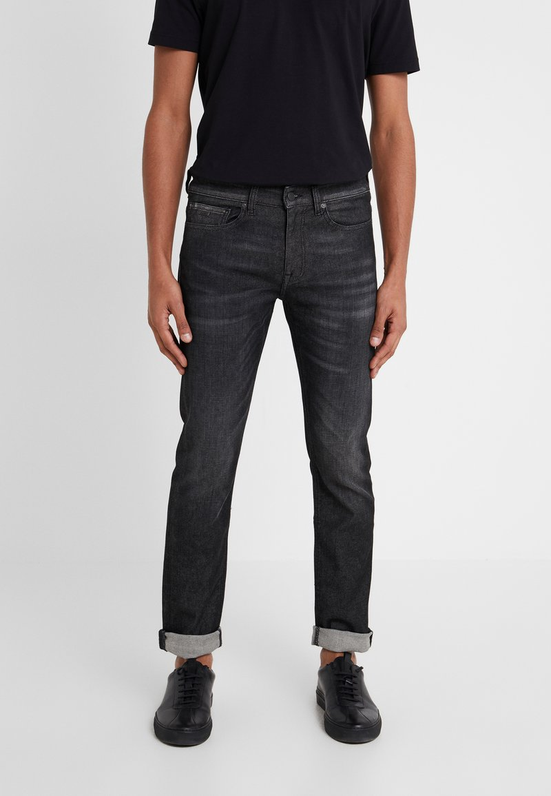 BOSS - DELAWARE  - Slim fit jeans - dark grey denim