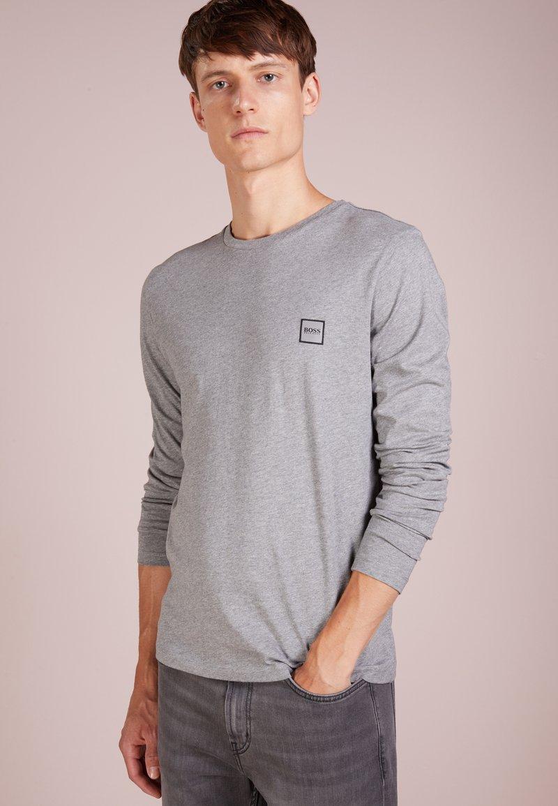 BOSS - TACKS - Long sleeved top - light/pastel grey