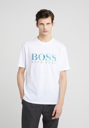 TEECHER - T-shirt z nadrukiem - white
