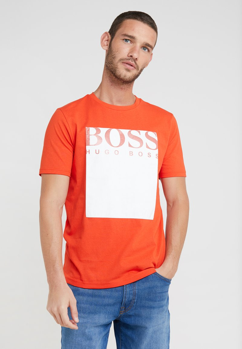 BOSS - TAUCH - T-Shirt print - open orange