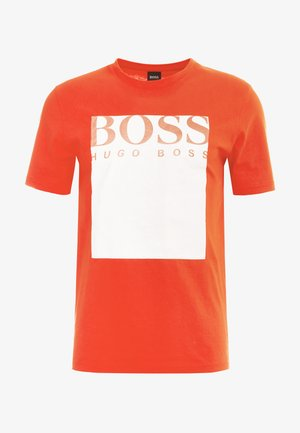 TAUCH - T-shirt med print - open orange