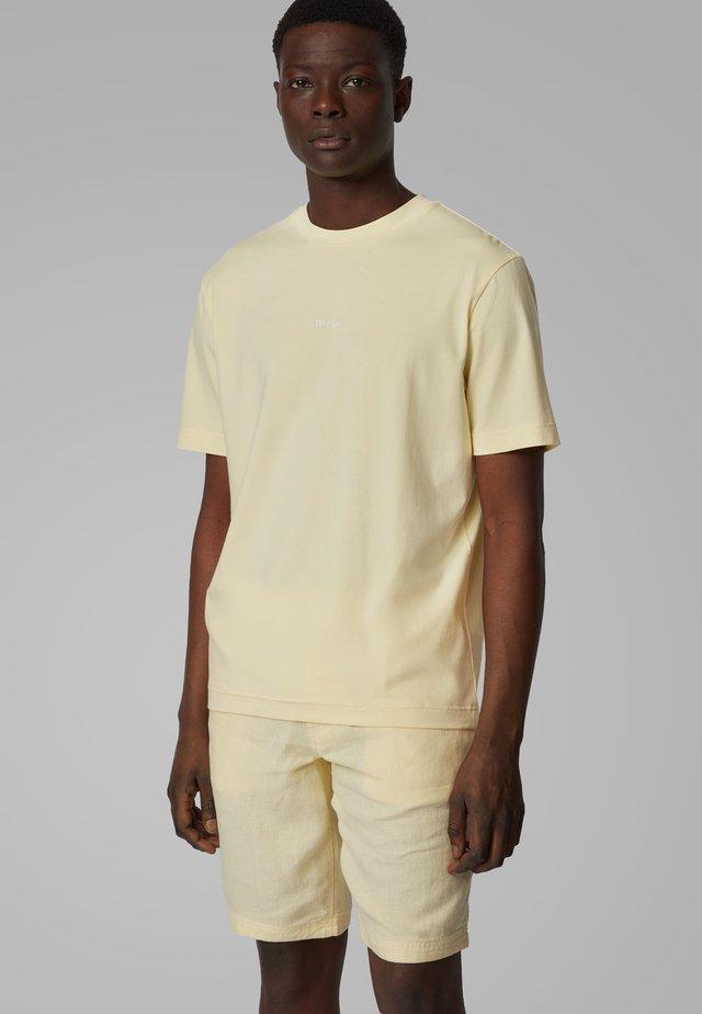 TCHUP - Print T-shirt - light yellow