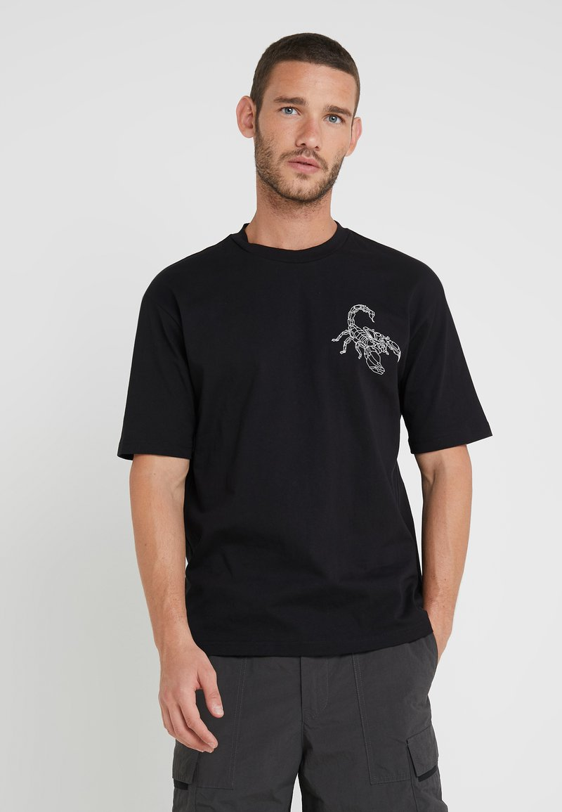 BOSS - TIMES - T-shirt imprimé - black