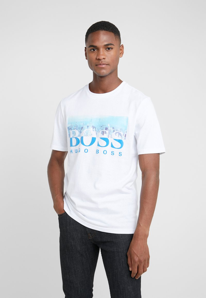 BOSS - TREK  - T-shirt imprimé - white/blue