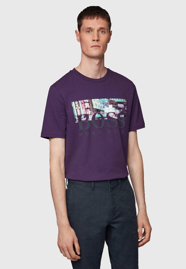 BOSS - TREK  - T-Shirt print - dark purple