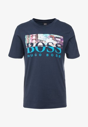TREK  - T-shirt print - navy
