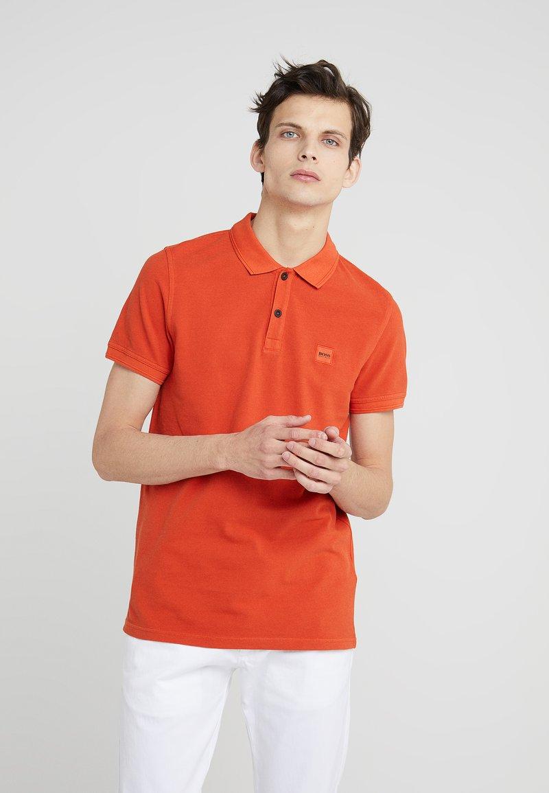 BOSS - PRIME SLIM FIT - Polo shirt - dark orange
