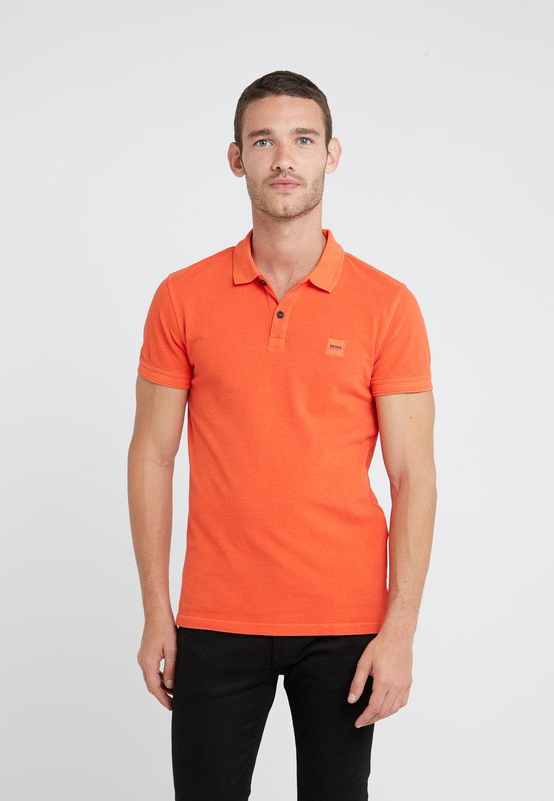 BOSS - PRIME SLIM FIT - Polo shirt - open orange