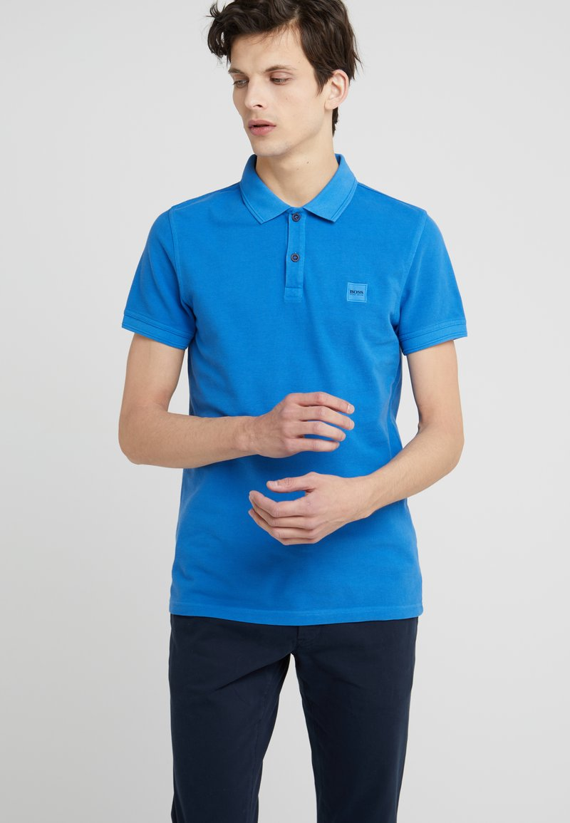 BOSS - PRIME SLIM FIT - Polo shirt - light/pastel blue