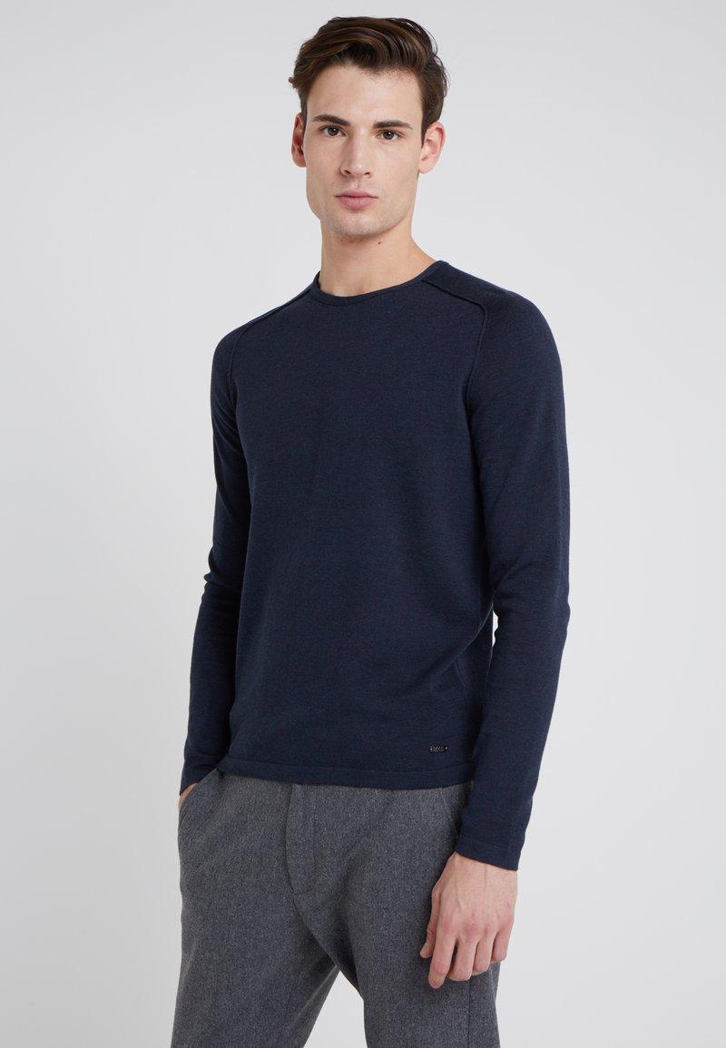 BOSS - AMIROY - Strickpullover - dark blue
