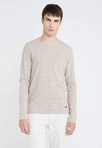 BOSS - TEMPEST - Stickad tröja - medium beige - 0